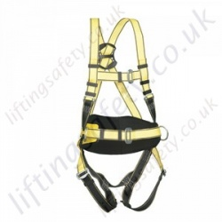 "Yale ""Three Point Fall Arrest Harness"" with Front and Rear 'D' Rings & Work Positioning Belt"