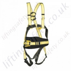 "Yale ""Quick Connect"" Four Point Fall Arrest Harness with Rear 'D' Ring and 2 x Chest 'D' Rings and Work Positioning Belt"