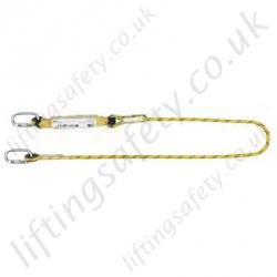 Yale Single Leg Fall Arrest Lanyard from Synthetic Rope with Screwgate Karabiners - Length 1.5m or 2 metre