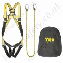 "Yale ""Kit 1"" (Restraint Kit) Height Safety Kit with Single Point Harness, 2 Metre Restraint Lanyard & Carry Bag"