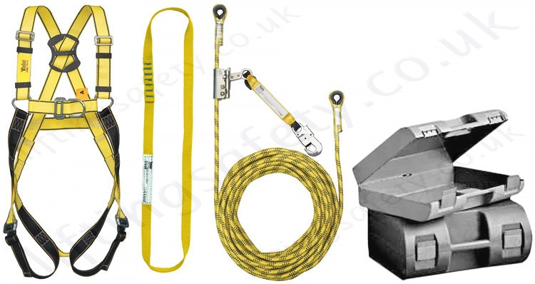 yale kit7 roofers kit height safety kit with 2 point harness rh liftingsafety co uk cheap safety roof harness kits miller safety harness kit