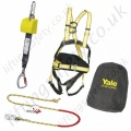 "Yale ""Kit 8"" (Work Positioning Kit) Height Safety Kit with 4 point Harness, Pole Strap, 2.2m Inertia Reel and Carry Bag"