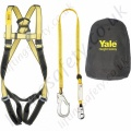 "Yale ""Kit 3"" (Scaffolders Kit) Fall Arrest  Kit with Single Point Harness and 2m shock Absorbing Lanyard with Scaffold Hook and Kit Bag"