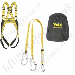 "Yale ""Kit 6"" (Crane Maintenance Kit) Fall Arrest Kit with 2 Point Harness, Twin Leg 2 metre Fall Arrest lanyard with Scaffold Hooks and Carry Bag"