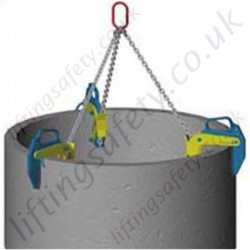 Camlok BTG Concrete Pipe Clamps - Range 1500kg or 3000kg