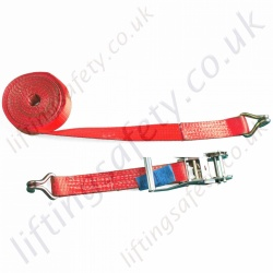 Ratchet Strap, Two Part. 25-75mm wide custom lengths - Range from 250kg to 5000kg MBS
