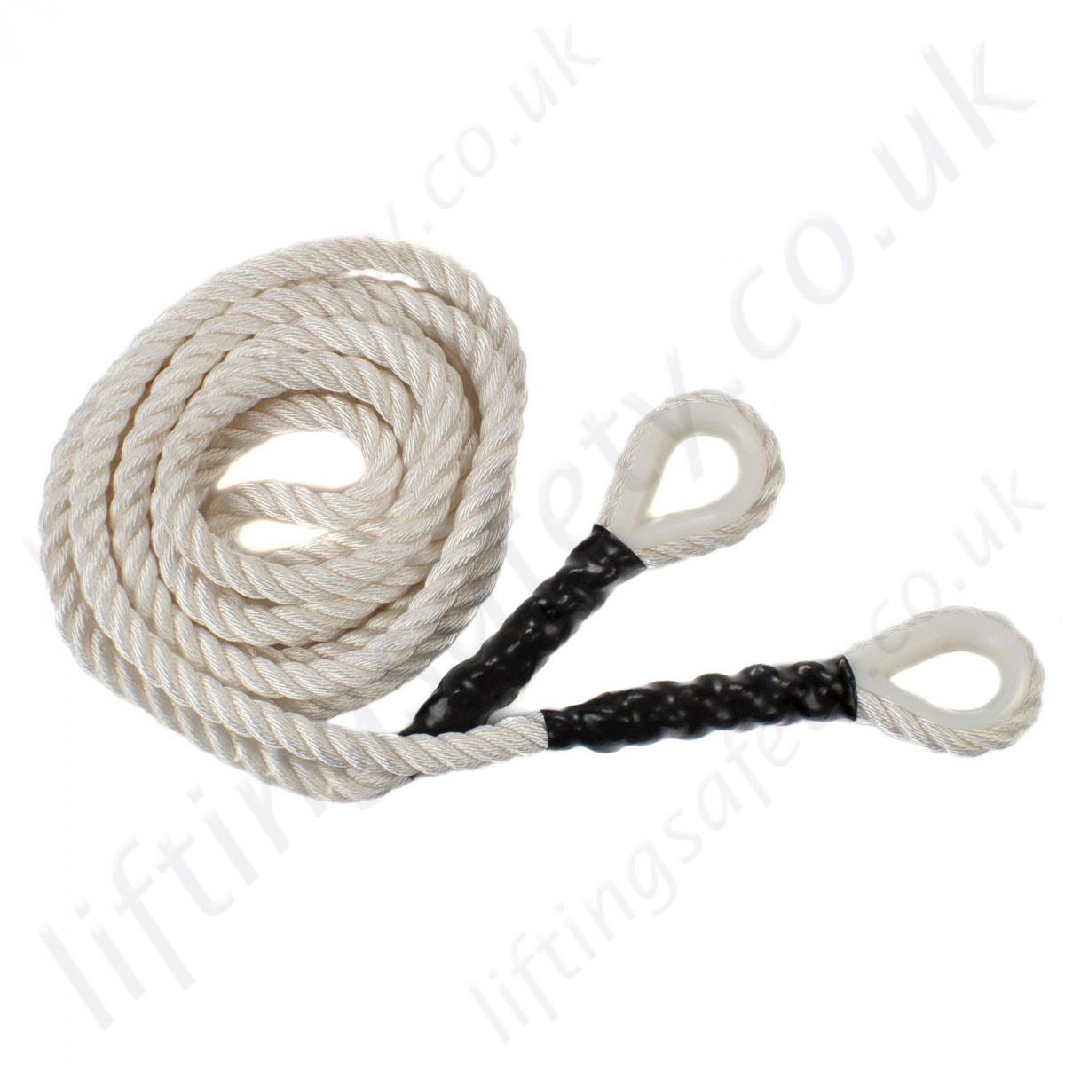 Ridgegear quot rga e three strand nylon rope terminations