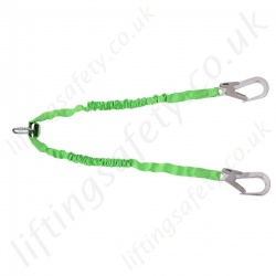 Miller Manyard Twin Leg Fall Arrest Lanyard with Scaffolding Hooks - 1.5 or 2 Metre