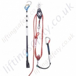 "Ridgegear ""RGR3"" Vertical Rescue Kit. System with Remote Rescue Pole, Manual 5:1 Lifting Ratio - Rope Lengths 20 to 60 Metre"