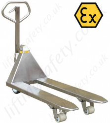 ATEX Pallet Trucks Built To Customers Specification - Range from 1000kg to 5000kg