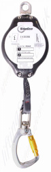 "Ridgegear ""RGA5"" Fall Arrest Inertia Reel Block (Fall Limiter) Polyester Webbing Lanyard with Swivel Snap Hook - 5 Metre"