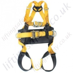 Ridgegear RGH4 Four Point Fall Arrest Work Positioning Harness with front and Read 'D' Rings