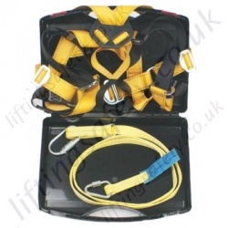 "Ridgegear ""RGHK5C"" Adj Restraint Height Safety Harness Kit with 2 Point Harness and 2m Adjustable Restraint Lanyard with Case"
