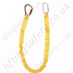 "Ridgegear ""RGL20"" Kinetic Fall Arrest Lanyard (Elasticated) Choice of Karabiners, Scaffold Hook or Snap Hook - Length Options 1.3m or 1.8 Metre"