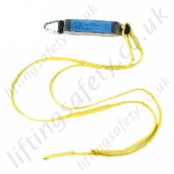 "Ridgegear ""RGL3"" Twin Leg Fall Arrest Lanyard, 100% Tie off. Choice of Karabiner, Scaffold Hook or Snap Hook - Length Options 1.3m or 1.8 Metre"