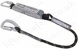 "Ridgegear ""RGL11"" Utility Fall Arrest Lanyard from Kernmantle Rope. Top Quality with triple Action Karabiner - 1.7 Metre"