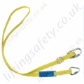 "Ridgegear ""RGL12/2""  Adjustable Length Restraint Lanyard. Karabiner options Inc.. Scaffold, Eye Hook and Snaphook- Adjusts from 1 to 2m"