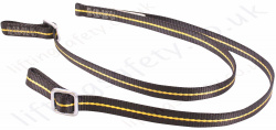 "Ridgegear ""RGL19"" Twin leg Fixed Length Restraint Lanyard. Karabiner options Inc.. Scaffold, Eye Hook and Snaphook- Length 1.8 m"