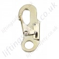 "Ridgegear ""RGK10""Double Action Snap Hook from Galv Steel. Breaking Strength 23kN. H 133mm, W 61mm. - Gate Opening 18mm"