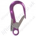 "Ridgegear ""RGK11"" Double Action Aluminium Self Locking Scaffold Hook. Breaking Strength 22kN. H 225mm x W 112mm. - Gate 60mm"