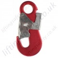 "Ridgegear ""RGK17"" Lightweight Aluminium Double Action Snap Hook. Breaking Strength 25kN. H 130mm, W 60mm - Gate Opening 18mm"