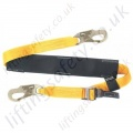 "Ridgegear ""RGP2"" Webbing Work Positioning Pole Strap with ""Stainless Steel"" Slider - Max Length 1.4 Metre"