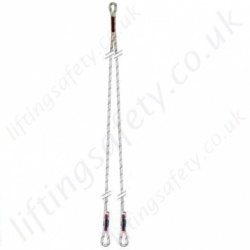 "Sala ""Twin Leg"" Sewed Rope Restraint Lanyard. No Karabiners - Length Options 1, 1.3 and 2 Metre"