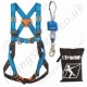 "Tractel ""Scaffolding Assembly Kit"" Fall Arrest Lanyard Kit with 2 Point Harness, Economy 2m Inertia Reel and Carry Bag"