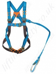 "Tractel ""Scaff Kit"" Fall Arrest Kit for Scaffolders and Others. 1Pt Harness stitched to either 1.75 or 2m Energy Absorbing Lanyard with Scaff Hook"