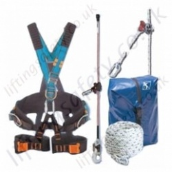 "Tractel ""Tree Pruning Kit 2"" Vertical Access Height Safety Kit with Technical Harness, Pole Strap, Auto / Manual Rope Grab (Various Lengths) and Bag"
