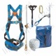 "Tractel Vertytrac ""Pylon Worker's Kit"" with 2Pt Harness, Work Positioning Belt, Pole Strap, Sling, 20m Auto Rope Grab & Carry Bag"