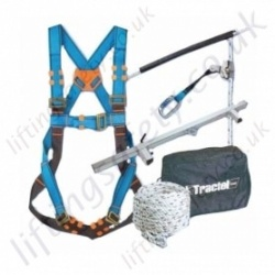"Tractel Vertytrac ""Door Bar Kit"" Mobile Anchorage Fall Arrest Kit with Single Point Harness and 20m Automatic Rope Grab System"