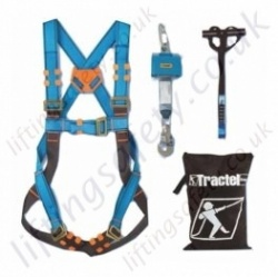 "Tractel ""Industrial Maintenance Kit"" Fall Arrest kit with Single Point Harness, Economy 1.8m Inertia Reel, Anchorage Strap and Bag"