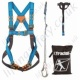 "Tractel Vertytrac ""Industrial Kit 2"" Fall Arrest Kit with Single Point Harness, 2m Adjustable Rope Energy Absorbing Lanyard with Scaffold Hook. Anchorage Sling & Carry Bag"