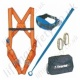 "Tractel ""Kit Easytrac 2"" Restraint Height Safety Kit with 1Pt Harness, 2m Restraint Lanyard, Karabiners and Kit Bag"