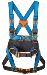 Tractel HT34 (Standard Buckles) Fall Arrest Harness With Front and Rear 'D' Ring and 2 x Chest 'D' Rings & Work Positioning Belt - S, M and XL