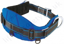 "Tractel ""CE02"" Adjustable Work Positioning Belt For Use With Pole strap & Restraint Lanyard with 2 x Side 'D' Rings - S, M and XL"