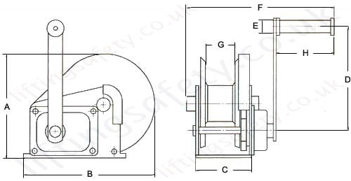 yale hw-cs stainless wire rope spur gear winch