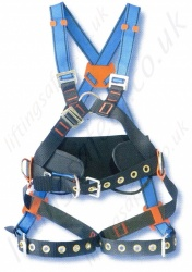 "Tractel ""HT110"" Fall Arrest Harness with Front and Rear 'D' Rings & Work Positioning Belt"