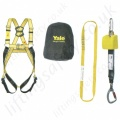"Yale ""Kit 4"" (Construction Kit 2) Height Safety Kit with 2 point Harness,  2.2m Inertia Reel, 600mm Anchor Sling and Carry Bag"
