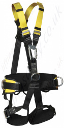 "Yale ""Five Point Fall Arrest"" Full Body Riggers Harness with front and Read 'D' Rings and Work positioning Belt"