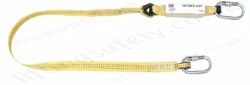 Yale 1.5m Fall Arrest Single Leg Lanyard Made from Webbing with 2x Screw Gate Connectors