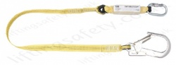 "Yale Single Leg Fall Arrest Lanyard from ""Webbing"" with Karabiner and Scaffold Hook - 1.5m or 2 metre"