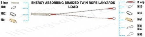 Tractel Lanyard Twin Leg With Connector Options