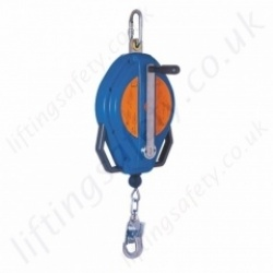 "Tractel ""Blocfor R"" Self Retracting Fall Arrest Retriever Inertia Reel Rescue Block With Retrieval Handle - 20 or 30 metre"