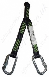 "Miller ""Forked"" Short Restraint Webbing Lanyard with 2 Karabiners, 0.4m Length"