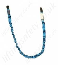 "Tractel ""LPA"" Energy Absorbing Fall Arrest Strap Lanyard, Single Leg - Choice of Karabiners, Lengths 1.5m, 1.75m and 2 Metre"