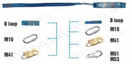 Tractel Lsea Webbing Lanyard With Connector Options