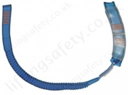 "Tractel ""LSEA"" Energy Absorbing Fall Arrest Elastic Webbing Lanyard Single Leg - Choice of Karabiners, Lengths: 1.5m, 1.75m and 2m"