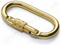 M10 18mm Opening Two Tone Steel Manual Screw Lock Karabiner
